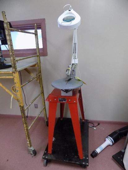 RBI Industries Hawk Precision Scroll Saw on Stand