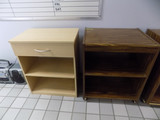 (2) wood stands