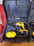 DeWalt Cordless Drill with (2) Batteries and Case (No Charger)