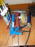 (3) Caulk Guns and Grease Gun
