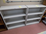 (2) Metal Shelves