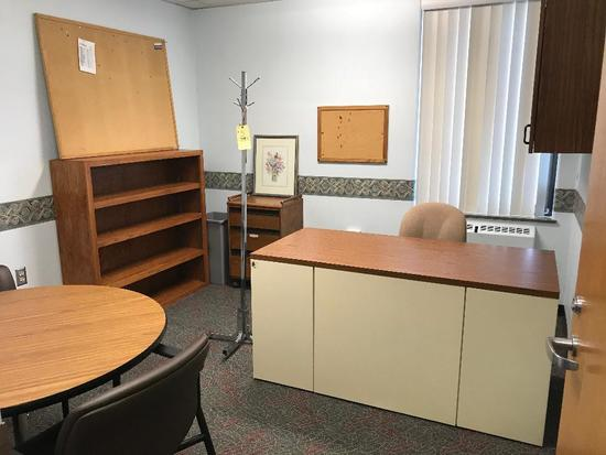 Contents Of Office: Desk - Chairs - Cabinets