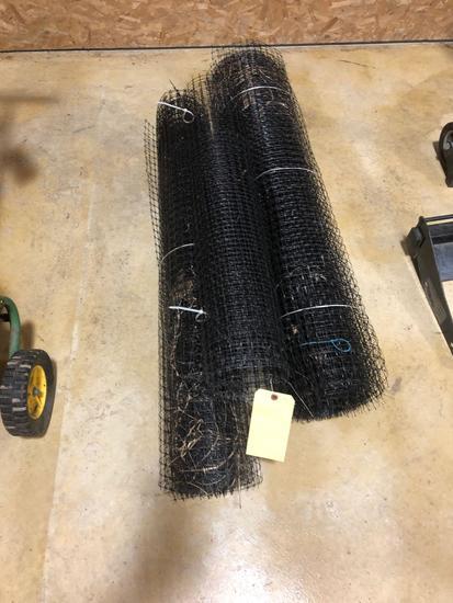3 Partial Rolls of Black Composite Fence
