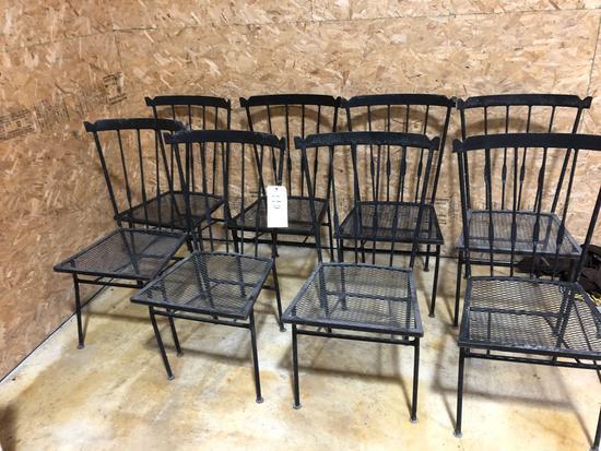 (8) Metal Patio Chairs