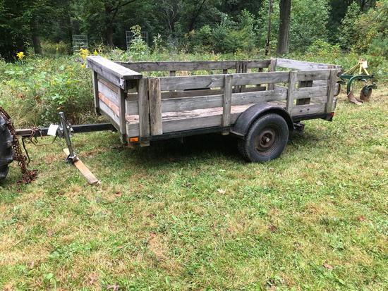 Home Built Trailer, Single Axle, 7'x14'