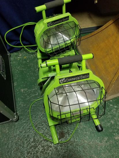 3 Commercial Electric Worklights
