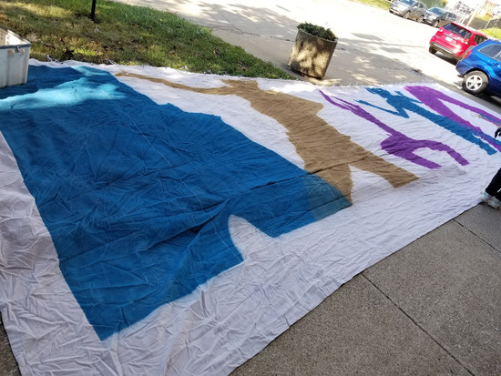 10' x 34' Urban Jam Backdrop With Road Case