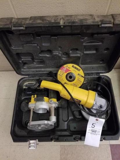 DeWalt Grinder, Router Jig, And Case