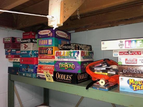 board games - aprox. 30 plus
