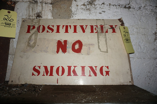 """Positively No Smoking"" sign"