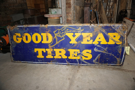 Goodyear Tires Porcelain Sign