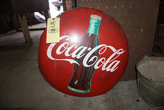 Coca-Cola Bottle Cap Sign