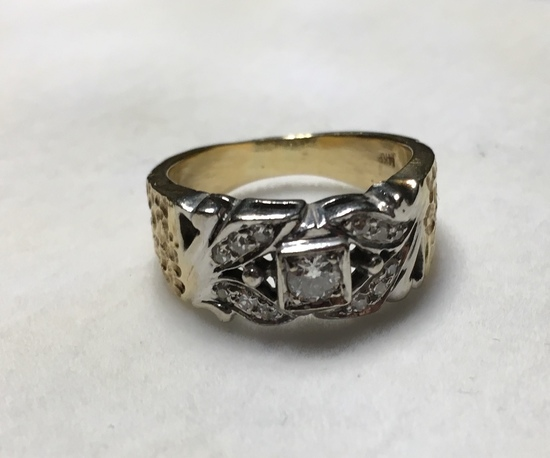 White Gold Diamond Cocktail Ring