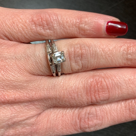 14kt white gold and diamond engagement ring