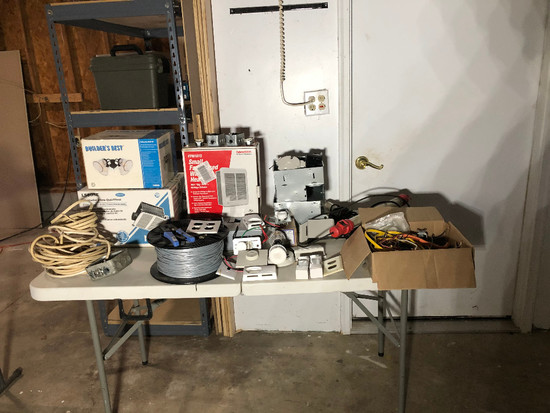 Electrical Hardware - New Exhaust Fans - Nutone LS80SE Exhaust Fans - New Builder's Ceiling Light