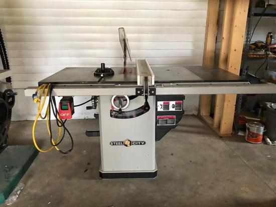 """Steel City 10""""  1.75HP Cabinet Table Saw"""