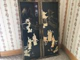 Pair Oriental Wall Hangings