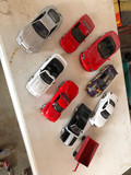 (8) Model Cars & Red Wagon