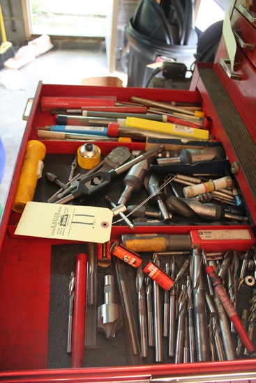 Contents Of Drawer Including Assorted Reamers, Drill Bits