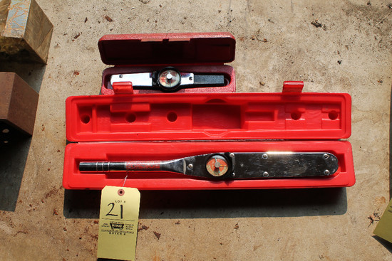 "2 MAC Torque Wrenches, 1/2"", 3/8"""
