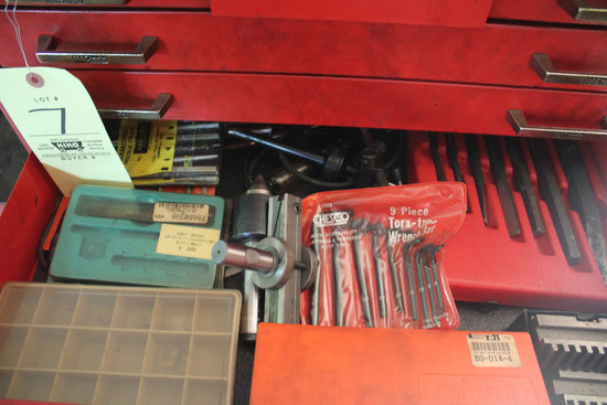 Contents Of Drawer Including Diamond Needle Files, Chisels