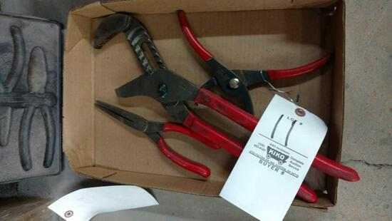 3 Snap-On pliers.