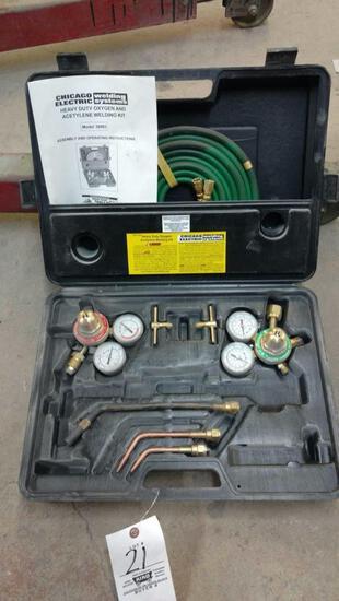 Oxygen acetylene welding kit.
