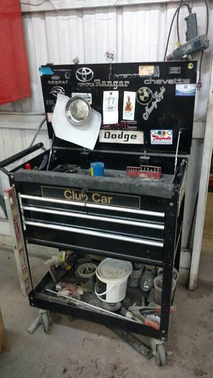 Tool cart and contents.