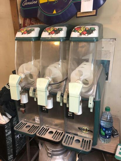 3 bay Elmeco slushee machine.