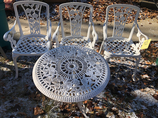 4 pc. Cast Iron Patio Set