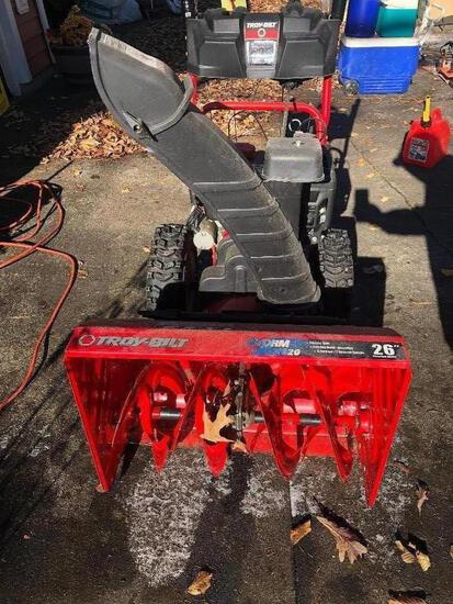 Troy Bilt Storm 2620 Snowblower Electric Start *NEEDS CARBURETOR SEAL*