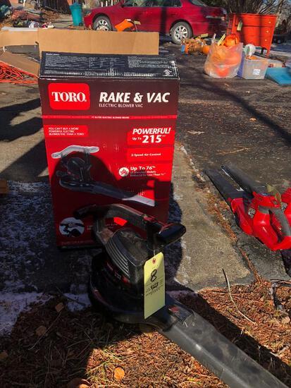 Toro Electric Rake Vac Blower