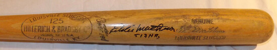 ED MATHEWS H&B LOUISVILLE SLUGGER 125 BAT, POWERIZED, GENUINE SIGNATURE MODEL, AUTOGRAPHED