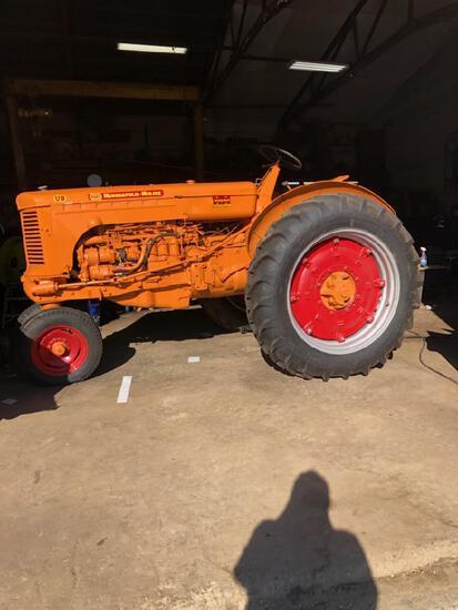 Minniapolis Moline Model UBUD tractor, restored, new tires, ser #07800886