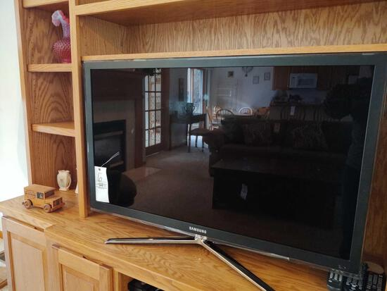 "Samsung 46"" Flat-Screen TV W/ Sony VHS Player, Samsung Blu-Ray Player, Asst. CDs"