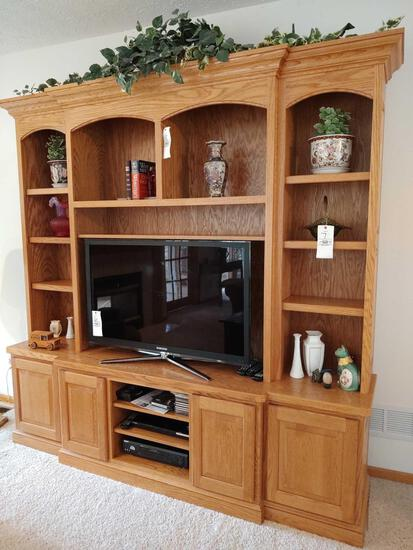 Oak 2-Pc. Entertainment Center