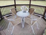 Patio Set, Chair, Planter, Storage Tote