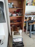 Contents Of Cabinet incl. Staple Guns & Assorted Hand Tools, Socket Set