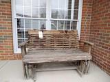 Wood Glider Bench