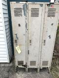 3 section locker