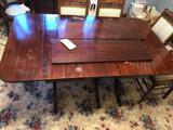 Mahogany table with leafs - NO CHAIRS