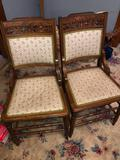 6 East lake tapestry chairs With matching rocker