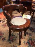 Walnut Victorian desk chair