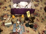 Figurines, pattern glass, collectibles