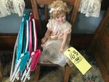 Shirley temple doll-youth chairs