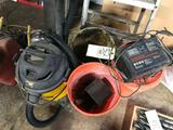 Shop vac-buckets-gas cans-misc - charger