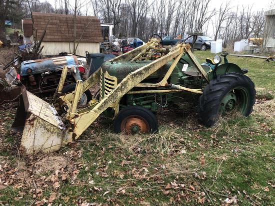 Oliver Super 55 loader tractor
