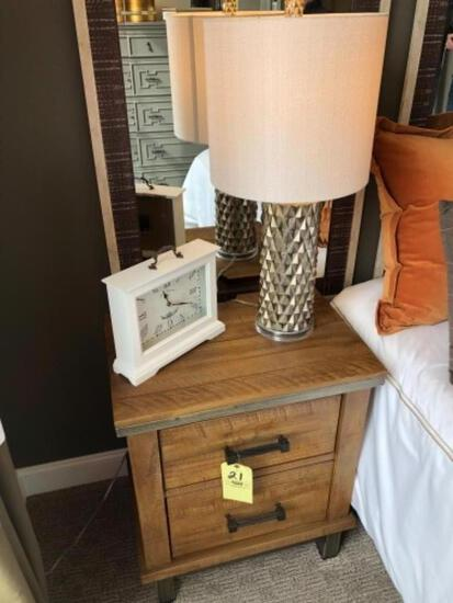 Wood endtables