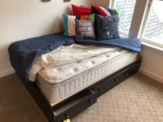 Bed with pocket storage
