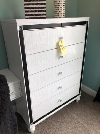 White 5-drawer dresser